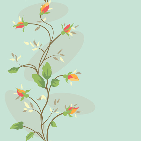 Seamless floral banner  with pastel colorful rose flower Vector