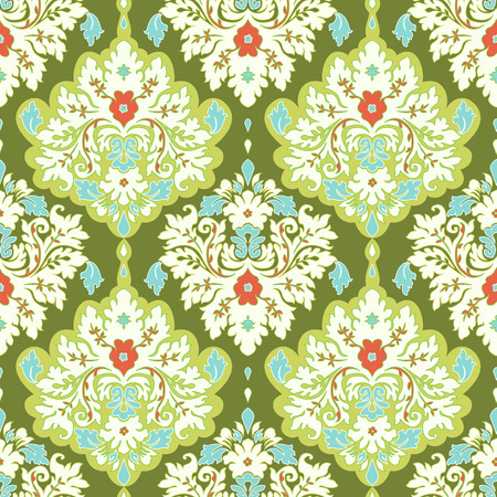 damask wallpaper: Damask seamless floral background pattern. Illustration