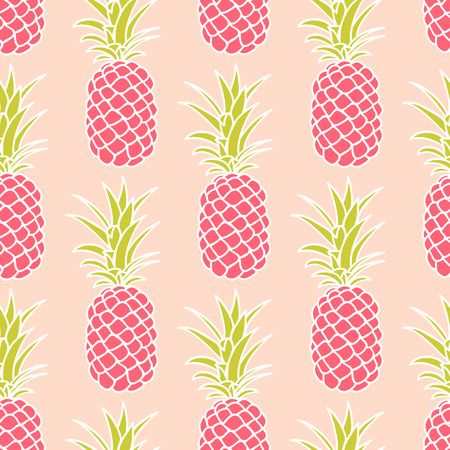 pink wallpaper: Abstract seamless pineapple pattern. Illustration