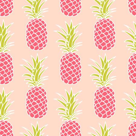 Abstract seamless pineapple pattern. Illustration