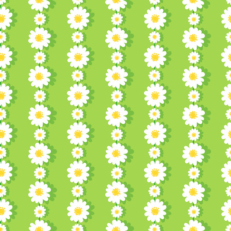Seamless Daisy Chain Pattern 版權商用圖片 - 41376042