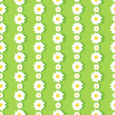 Seamless Daisy Chain Pattern Banco de Imagens - 41376042
