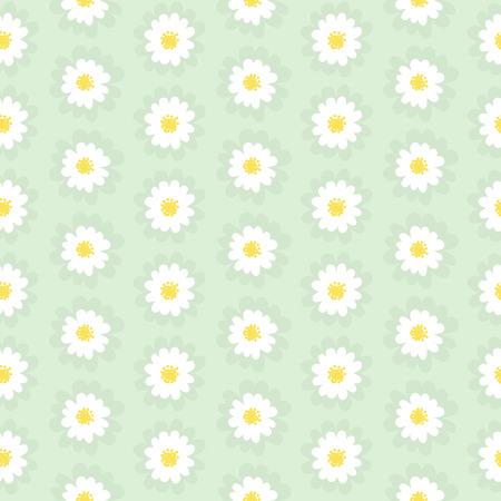field of daisies: White daisies seamless pattern.Daisy field Illustration