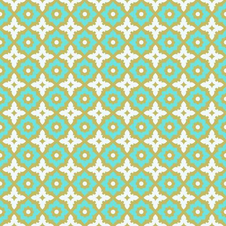 azul turqueza: Patrón sin fisuras de baldosas de diseño de cerámica Vectores