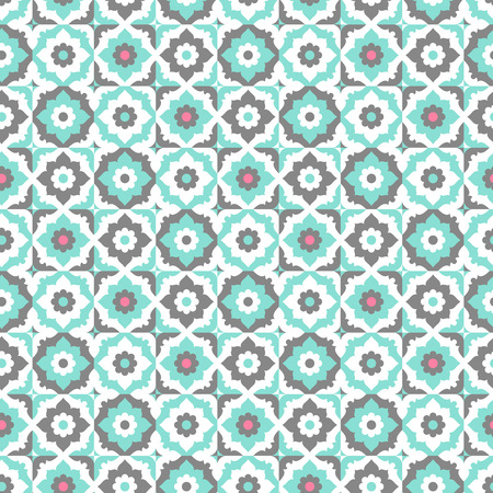 portugese: Seamless pattern with floral ornate.vector illustration