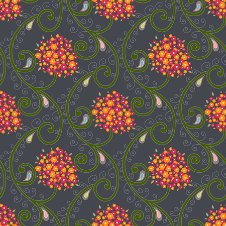 Seamless pattern vector with  daisy bouquet background
