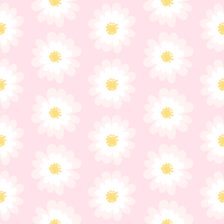 White daisy seamless pattern .Daisy field. Flower chain Illustration
