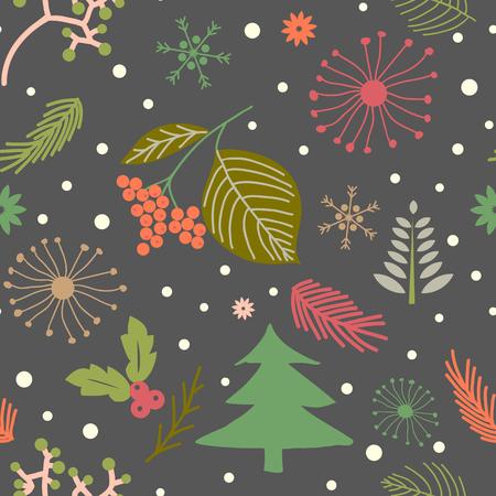 winter snow: Winter seamless Christmas pattern