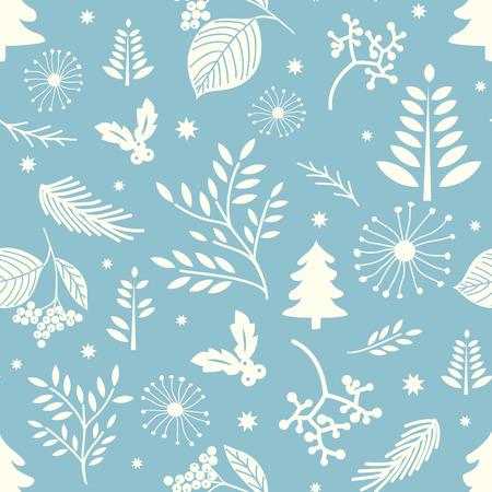 Winter seamless Christmas pattern Vector Illustration