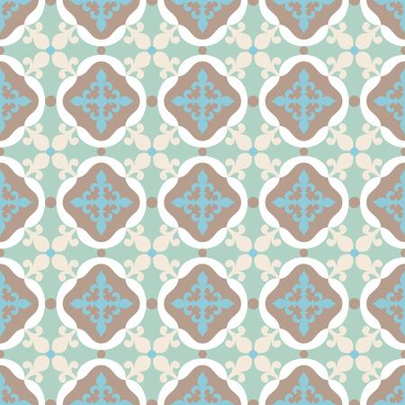 spanish tile: Seamless pattern. Portuguese, Moroccan, Spanish tile.