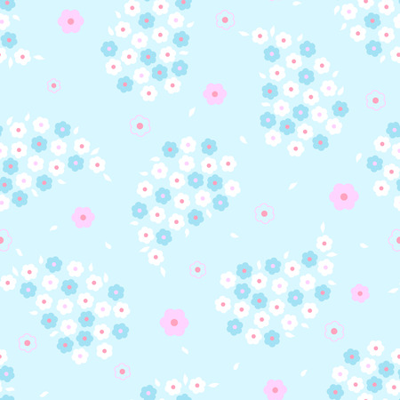 Seamless cute daisy paisley pattern design