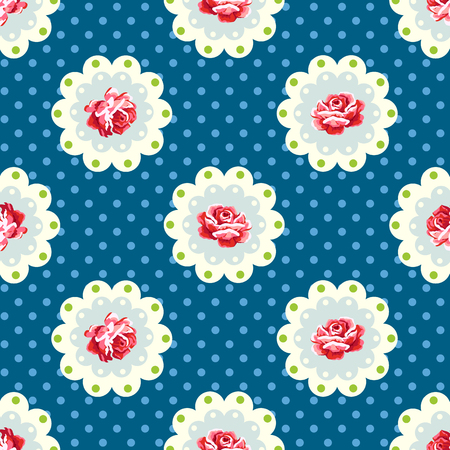Vintage rose pattern. Shabby chic style