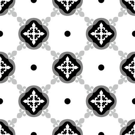 white tile: Oriental traditional floral Moroccan seamless pattern, tile vector illustration Illustration