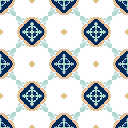 Oriental traditional floral Moroccan seamless pattern, tile vector illustration Çizim