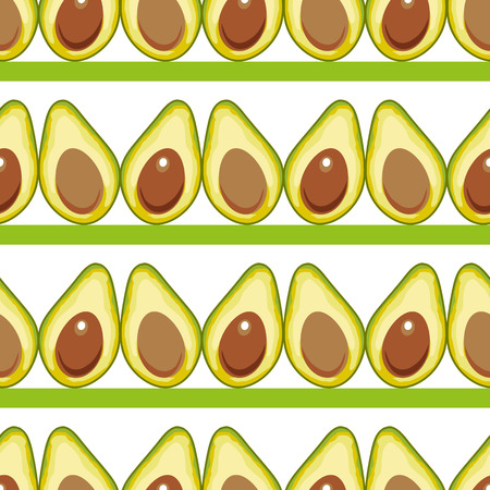 Seamless pattern with avocado