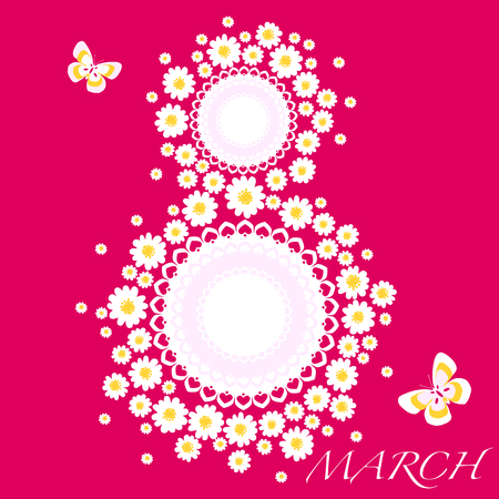 Women day background with daisies Illustration