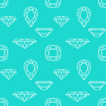 Vector seamless pattern with diamonds