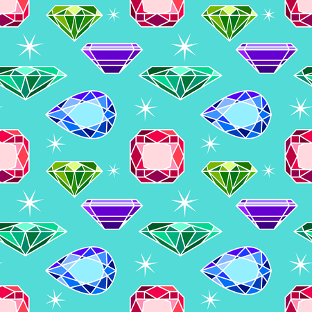 tiffany: Vector seamless pattern with diamonds