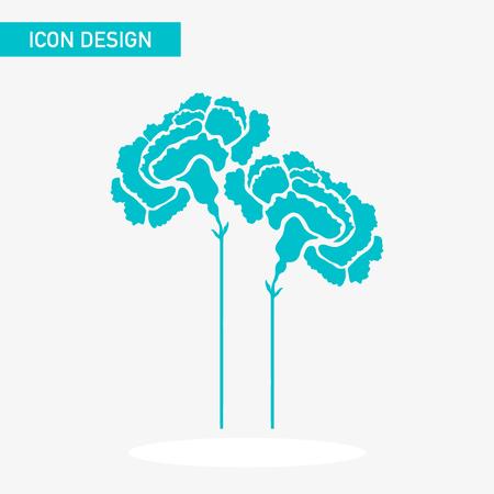 Flower flat icon vector design  イラスト・ベクター素材