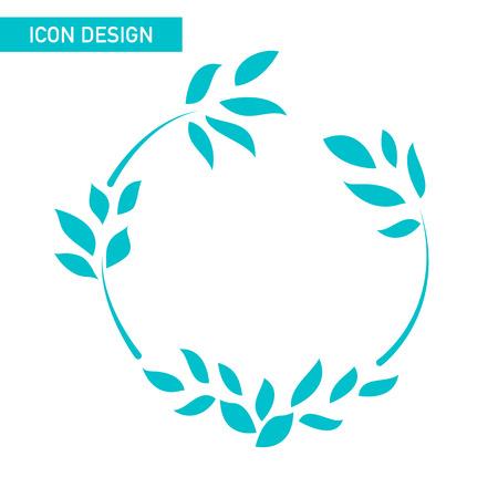 Feuille icône plat dessin vectoriel