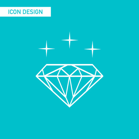 gemstone: Diamond flat icon vector design Illustration