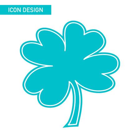 patric icon: Trefoil flat icon design