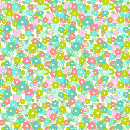 Daisy seamless pattern. Small flowers background.