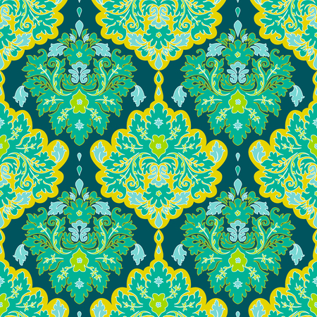 Seamless floral damask pattern. Classic Background