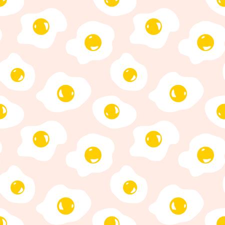 Seamless pattern with scrambled eggs  イラスト・ベクター素材
