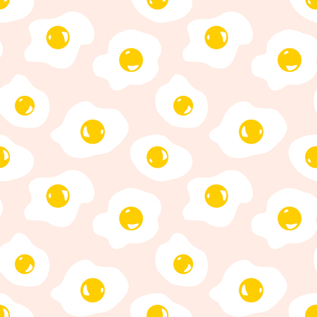 Seamless pattern with scrambled eggs Ilustração