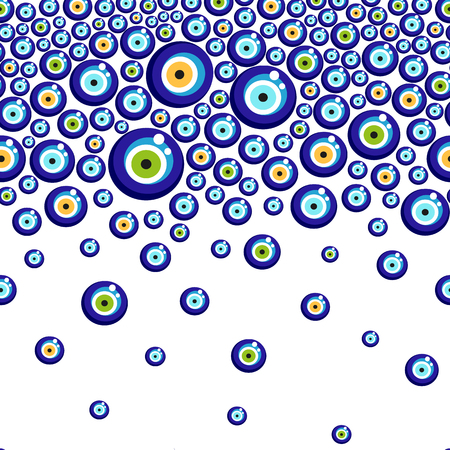 Evil eye vector pattern.