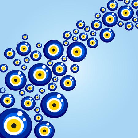 Evil eye pattern.