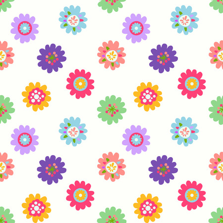 dainty: Cute seamless vector pattern with flowers