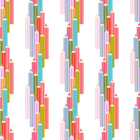 colored pencil: Vector background seamless pattern with colored pencil.