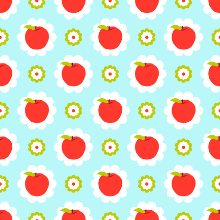 Abstract apple pattern background