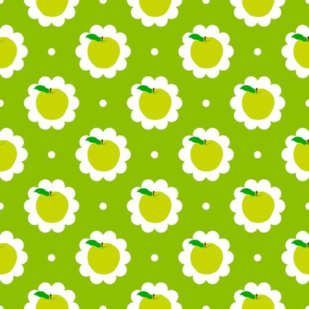 autumn motif: Abstract apple pattern background