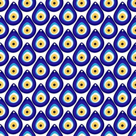 bead: Evil eye seamless pattern. Turkish e bead background