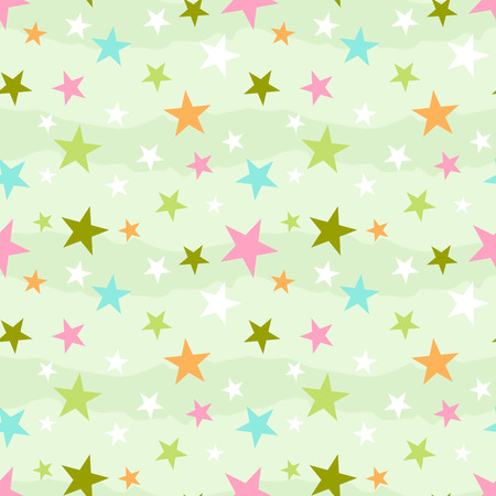 Abstract seamless pattern with stars  イラスト・ベクター素材