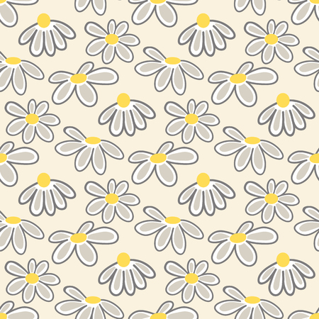 Floral pattern with cute daisies.