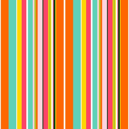 Striped seamless pattern. Colorful line vector background. Cheerful colors with fun stripes