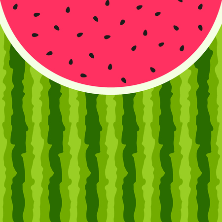 pulp: Vector background with Watermelon seed and skin texture