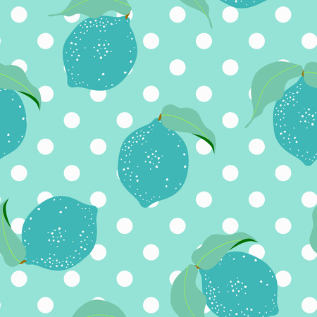 A seamless floral pattern with lemon on white background.