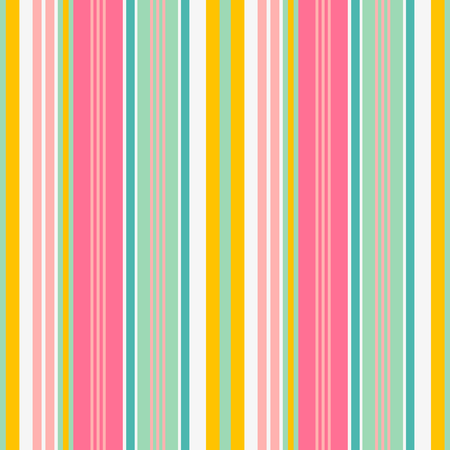 Striped seamless pattern. Colorful bold line vector background. Cheerful colors with fun stripes for summer