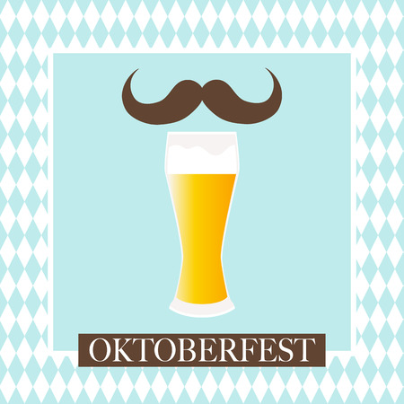 Oktoberfest celebration design on textured background.
