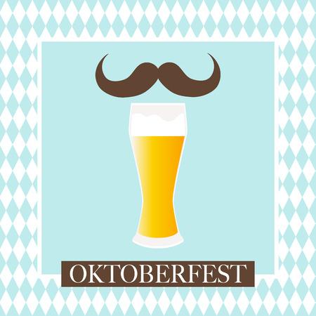 Oktoberfest viering ontwerp op getextureerde achtergrond.