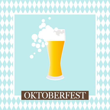 Oktoberfest celebration design on textured background.