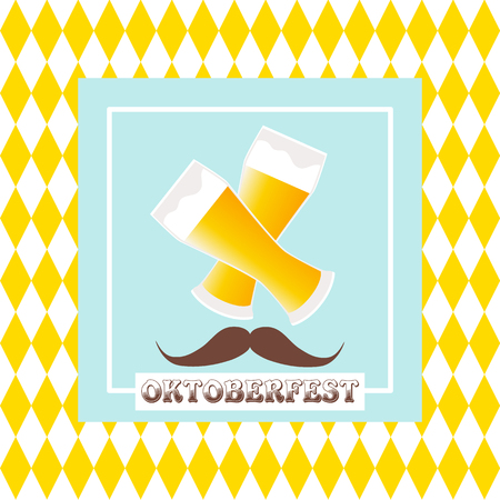Oktoberfest celebration  design on textured background