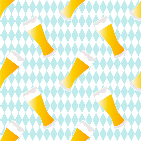 Beer seamless pattern with textured background