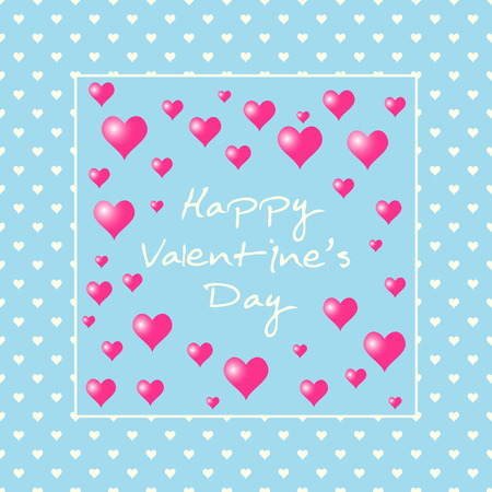 Valentines day love background. Romantic pink heart pattern.