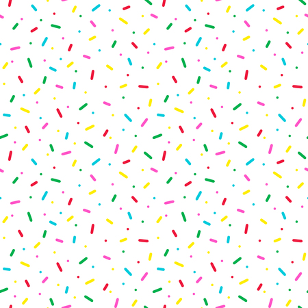 Seamless pattern with colorful sprinkles. Donut glaze background.